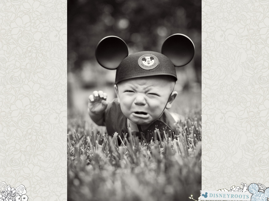 Crying Baby in Mouse Ears