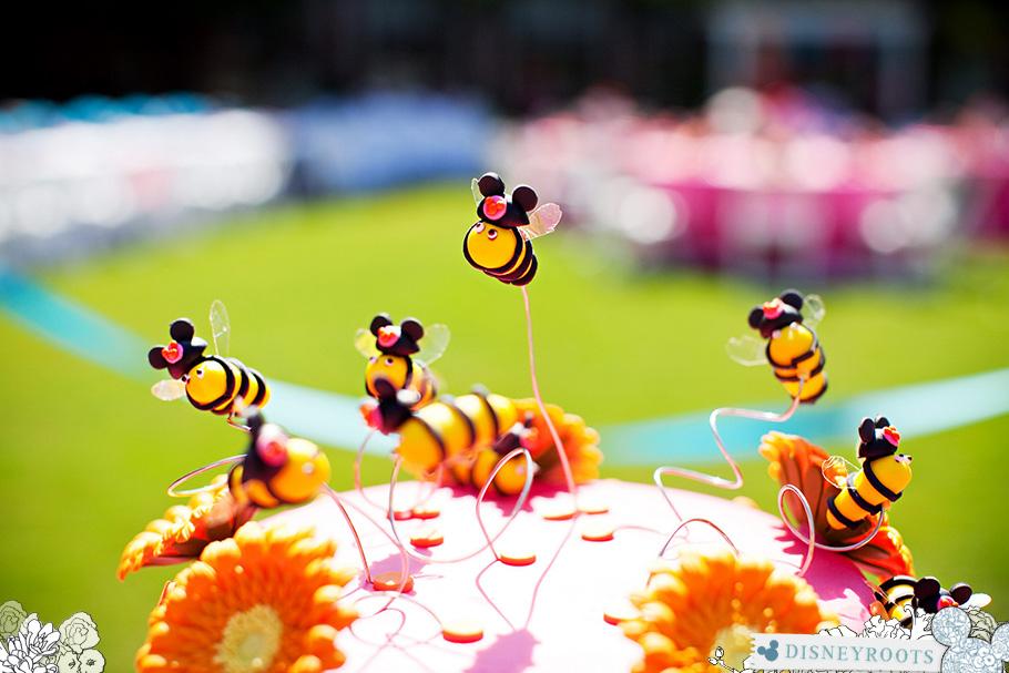 Disney Fairy Tale Weddings Cake Mouseketeer Bees