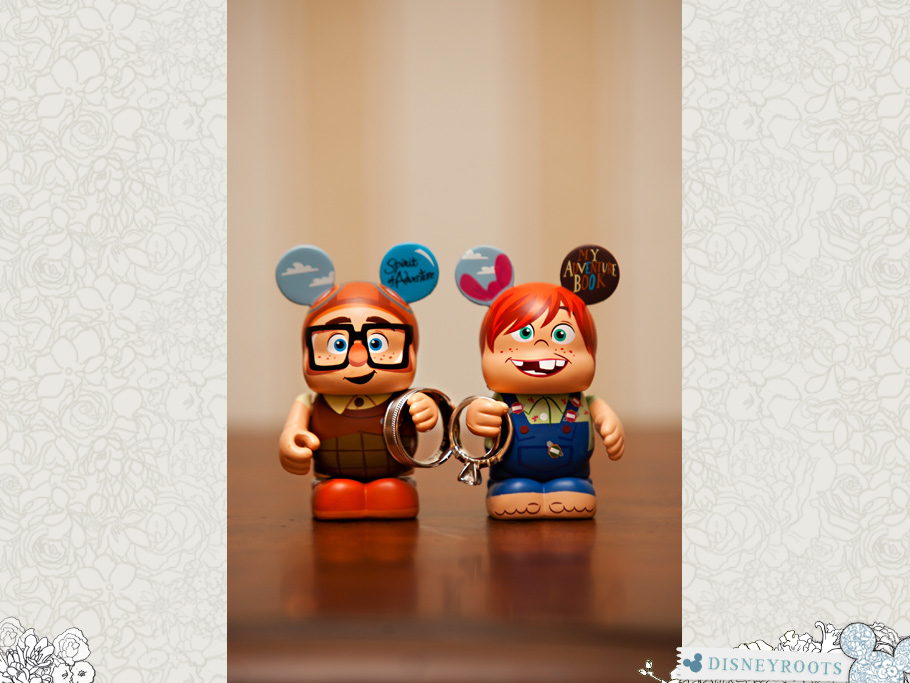 Carl Ellie Vinylmation Wedding Rings
