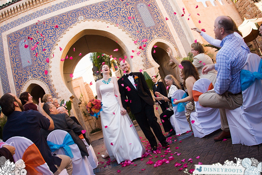 Carrie and Patrick's Epcot Wedding in Morocco Pavilion