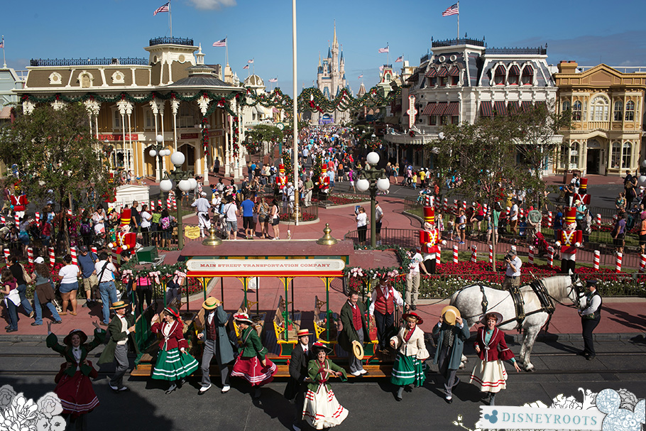 Magic Kingdom Holiday Trolley Show Main Street USA Disney