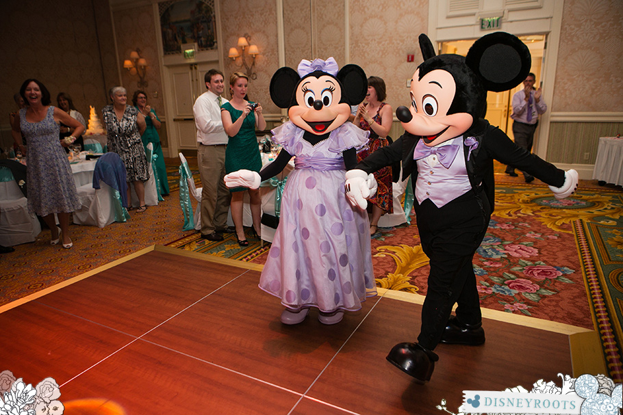 Mickey Minnie Guests at Reception