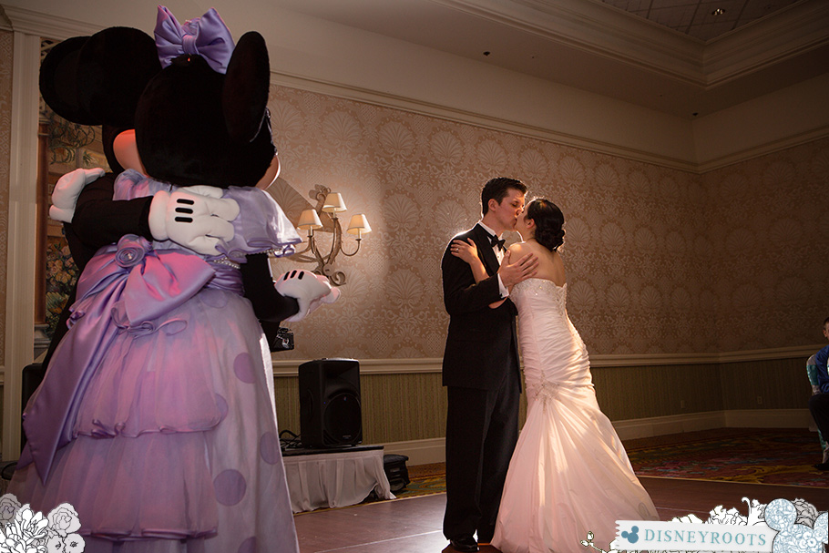 Mickey and Minnie Mouse Wedding Guests