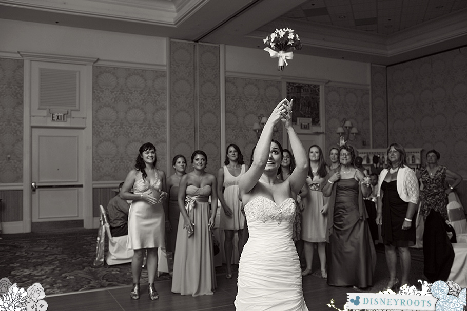 Disney Wedding Bouquet Toss