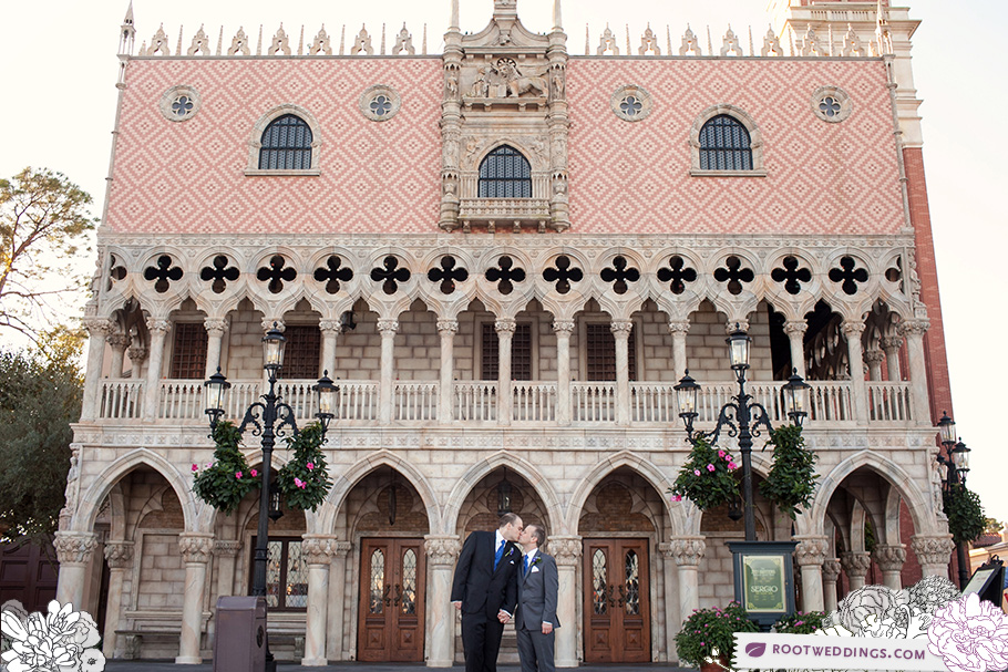 Epcot Italy Same Sex Wedding WDW