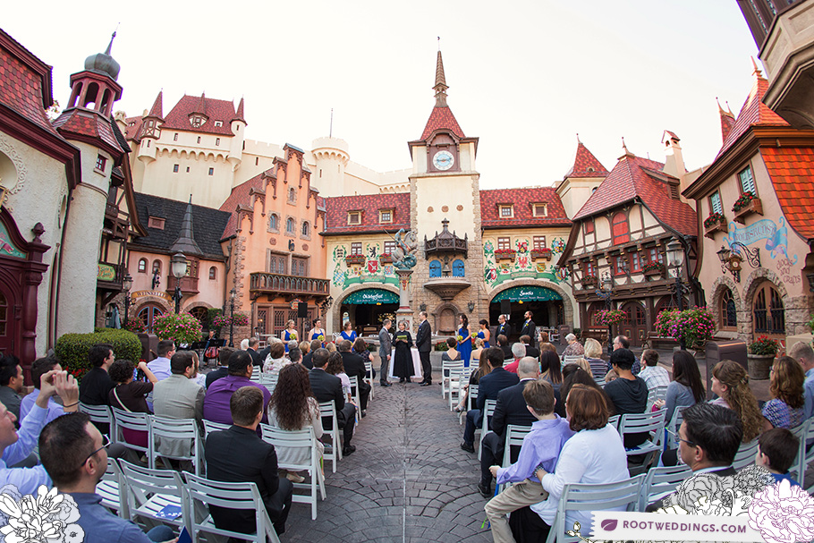 Disney Germany Pavilion Same Sex Wedding WDW