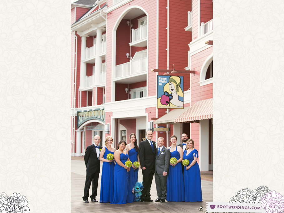 Disney Boardwalk Inn Bridal Party Portrait