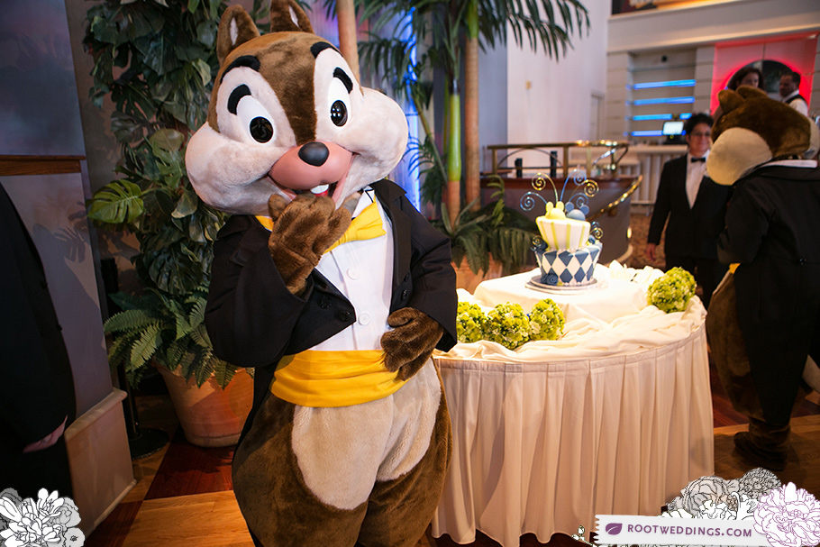 Disney Boardwalk Inn Atlantic Dance Hall Reception Chip and Dale