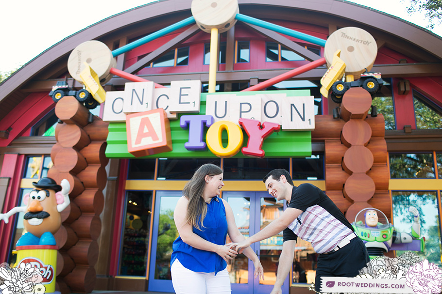 Once Upon a Toy Downtown Disney Engagement